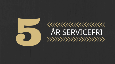 5 år servicefri